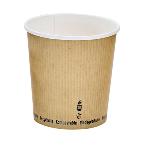 "PacknWood Paper Kraft Soup Cup - 24 oz - 4.5"" - 210PLAS24"