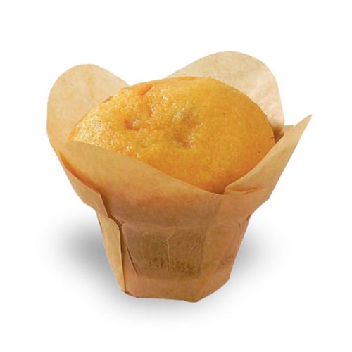 "PacknWood Paper Golden Brown Silicone Lotus Baking Cup - 4 oz - 1.5"" - 209CPSL3M"