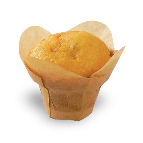 "PacknWood Paper Golden Brown Silicone Lotus Baking Cup - 1 oz - 4.3"" - 209CPSL1M"