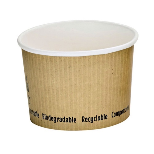 "PacknWood Paper Kraft Soup Cup - 8 oz - 3.5"" - 210PLAS8"