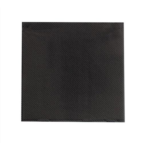 """PacknWood Paper Black Napkin 2-Ply - 15"""" x 15"""" - 210SMP3838N"""