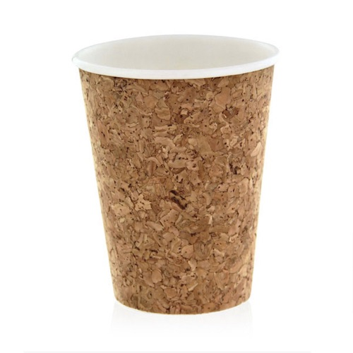 PacknWood Insulated Cork Coffee Cup - 12 oz - 210CORK12