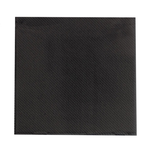 """PacknWood Paper Black Napkin 2-Ply - 10"""" x 10"""" - 210SMP2525N"""