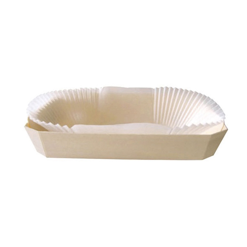 "PacknWood Wood Baking Mold - 16 oz - 7.4"" x 4.1"" x 1.5"" - 210NBAKE102"