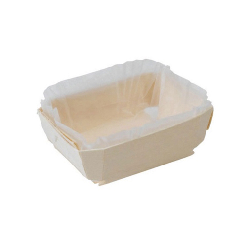 "PacknWood Wood Baking Mold - 16 oz - 7.3"" x 3.1"" x 1.6"" - 210NBAKE104"