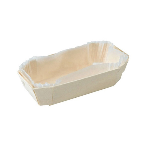 "PacknWood Wood Baking Mold - 5 oz - 4.5"" x 2.5"" x 1.3"" - 210NBAKE105"