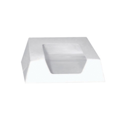 "PacknWood Paper White Window Pastry Box - 5.5"" x 5.5"" x 1.6"" - 209PAT140"