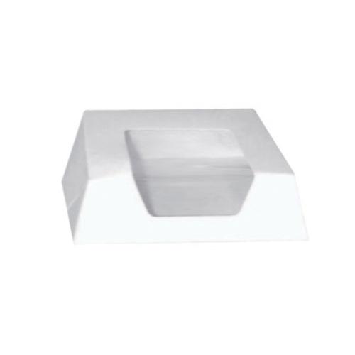 """PacknWood Paper White Window Pastry Box - 5.5"""" x 5.5"""" x 1.6"""" - 209PAT140"""
