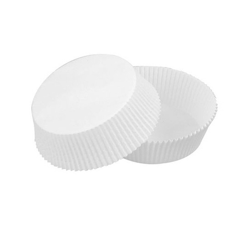 "PacknWood Paper White Baking Liner Cup - 1.25"" x 1.7"" - 209CPS43"