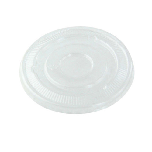 "PacknWood Clear Flat Lid for Portion Cup - 3.5"" - 210GKL90L"