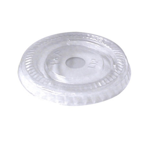 "PacknWood Clear Flat Lid for Portion Cup - 3.7"" - 210GKL96L"