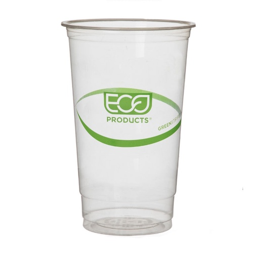 Eco-Products PLA Green Stripe Cold Cup - 32 oz - EP-CC32-GS