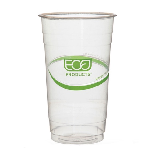 Eco-Products PLA Green Stripe Cold Cup - 24 oz - EP-CC24-GS