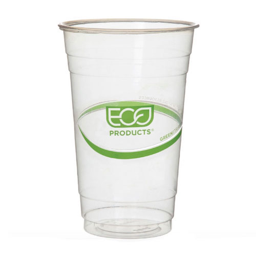 Eco-Products PLA Green Stripe Cold Cup - 20 oz - EP-CC20-GS