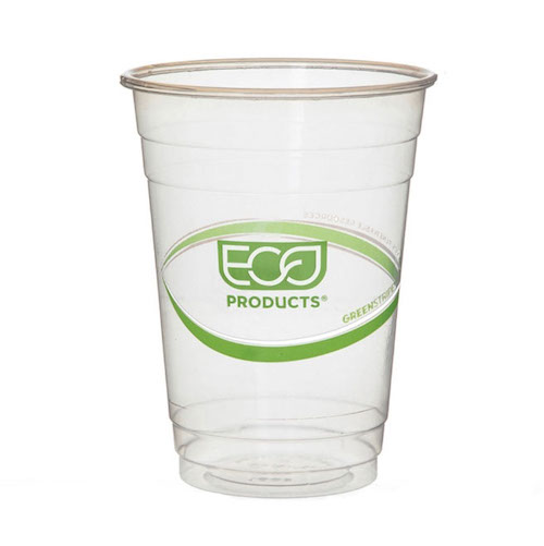Eco-Products PLA Green Stripe Cold Cup - 16 oz - EP-CC16-GS