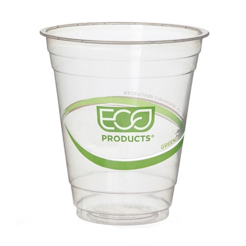 Eco-Products PLA Green Stripe Cold Cup - 12 oz - EP-CC12-GS