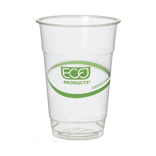 Eco-Products PLA Green Stripe Cold Cup - 10 oz - EP-CC10-GS
