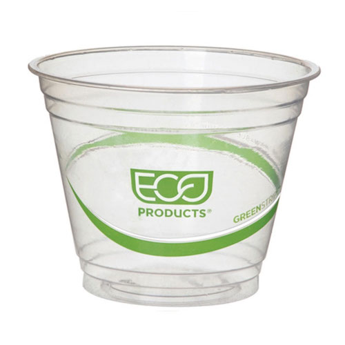 Eco-Products PLA Green Stripe Cold Cup - 9 oz - EP-CC9S-GS