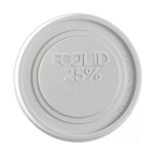 Eco-Products RPS White Flat Lid for Container - 12-32 oz - EP-BRSCLID-L