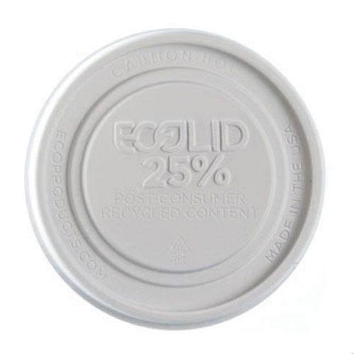 Eco-Products RPS White Flat Lid for Container - 8 oz - EP-BRSCLID-S