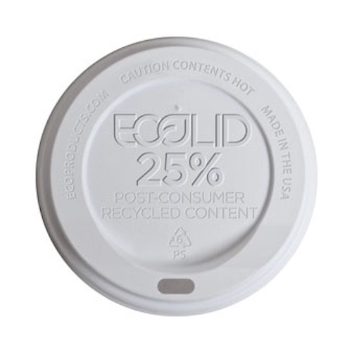 Eco-Products RPS White Flat Lid for Insulated Hot Cup - 20 oz - EP-HL20-WR