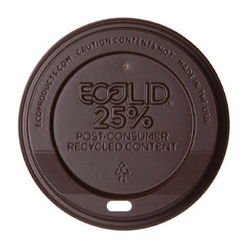 Eco-Products RPS Brown Flat Lid for Hot Cup - 10-20 oz - EP-HL16-BWNR