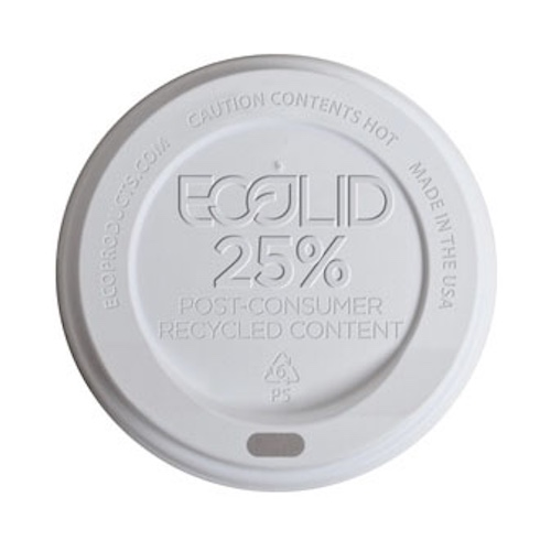 Eco-Products RPS White Flat Lid for Hot Cup - 8 oz - EP-HL8-WR