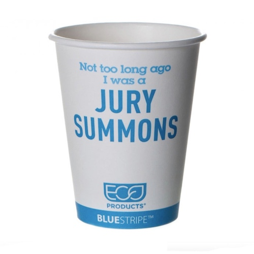 Eco-Products PCF Blue Stripe Limited Design Hot Cup - 12 oz - EP-BRHC12-BSLE01