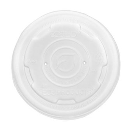 Eco-Products PLA Translucent Lid for Container - 8-10 oz - EP-ECOLID-SPS
