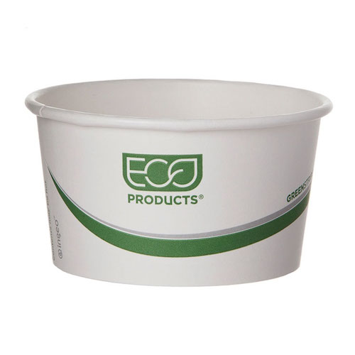 Eco-Products Paper Green Stripe Container - 12 oz - EP-BSC12-GS