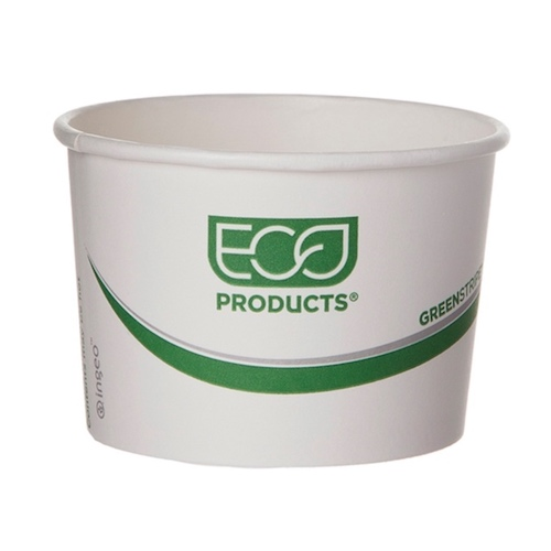 Eco-Products Paper Green Stripe Container - 8 oz - EP-BSC8-GS