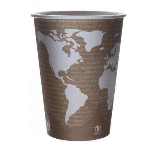 Eco-Products Paper World Art Container - 32 oz - EP-BSC32-WA