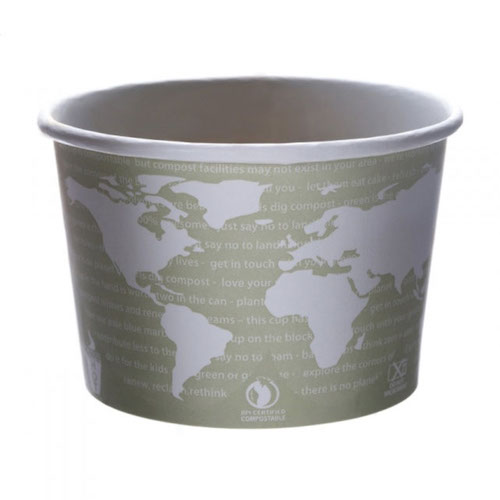 Eco-Products Paper World Art Container - 16 oz - EP-BSC16-WA