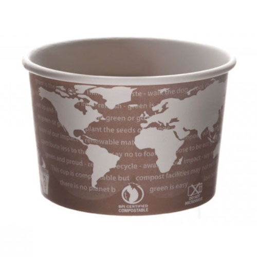 Eco-Products Paper World Art Container - 8 oz - EP-BSC8-WA