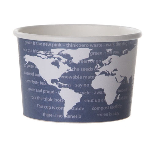 Eco-Products Paper World Art Container - 4 oz - EP-BSC4-WA