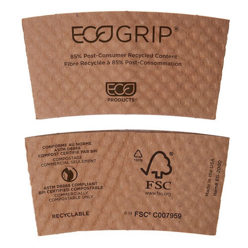 Eco-Products Paper Hot Cup Sleeve - 10-20 oz - EG-2000
