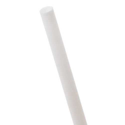 "Eco-Products PLA White Straw Unwrapped - 7.75"" - EP-ST710U-WHT"