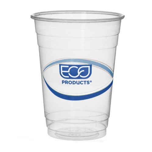 Eco-Products rPET Blue Stripe Cold Cup - 16 oz - EP-CR16