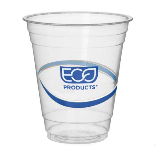 Eco-Products rPET Blue Stripe Cold Cup - 12 oz - EP-CR12