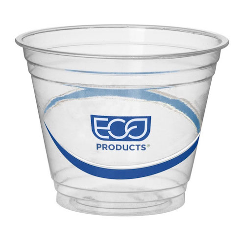 Eco-Products rPET Blue Stripe Cold Cup - 9 oz - EP-CR9