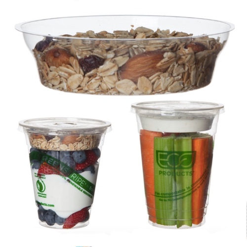Eco-Products PLA Clear 3 oz Insert for Cold Cup - 9-24 oz - EP-CCI3