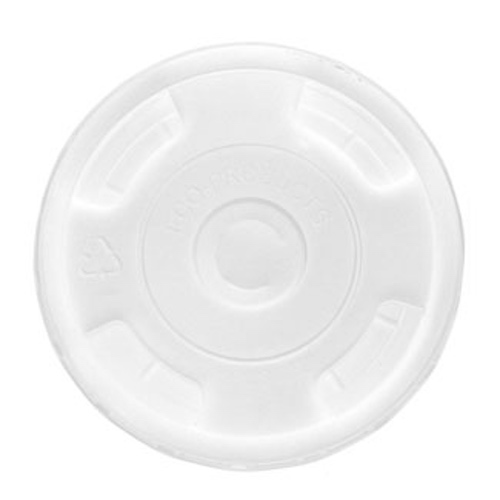 Eco-Products rPET Clear Flat Lid for Cold Cup - 9-24 oz - EP-CRFL