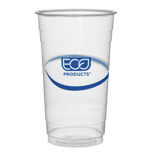 Eco-Products rPET Blue Stripe Cold Cup - 24 oz - EP-CR24
