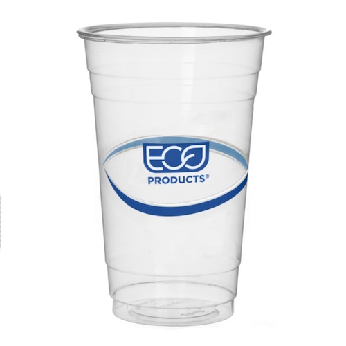 Eco-Products rPET Blue Stripe Cold Cup - 20 oz - EP-CR20