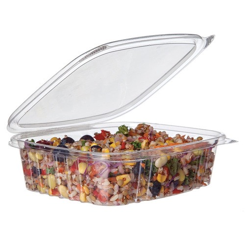 Eco-Products PLA Clear Rectangular Deli Hinged Container - 24 oz - EP-RCH24