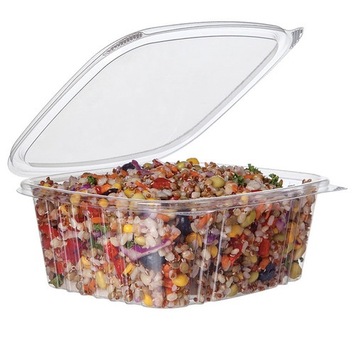 Eco-Products PLA Clear Rectangular Deli Hinged Container - 32 oz - EP-RCH32