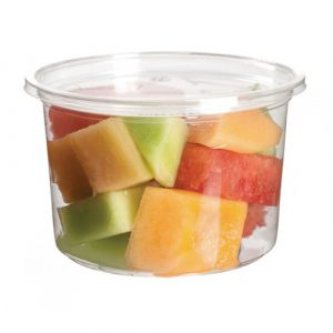 Eco-Products PLA Clear Round Deli Container - 16 oz - EP-RDP16