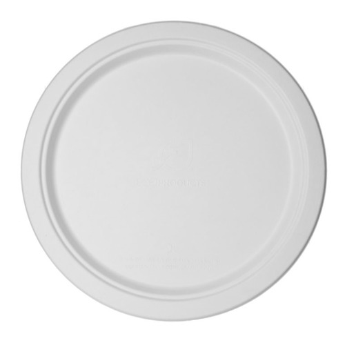 "Eco-Products Sugarcane White Round Plate - 12"" - EP-P012"