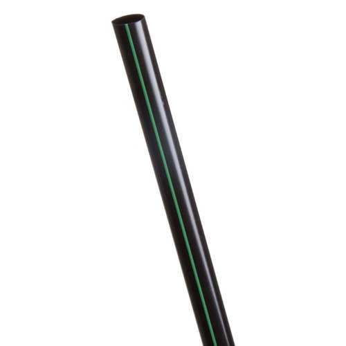 "Eco-Products PLA Black Green Stripe Straw Unwrapped - 7.75"" - EP-ST780U-BGS"