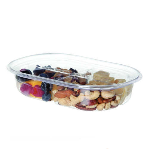 Eco-Products PLA Clear 4 Compartment Deli Lid Snack Container - 32 oz - EP-RV324